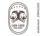 a lion animal logo template | Shutterstock .eps vector #1900412329