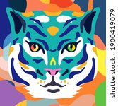 vector illustration of tiger.... | Shutterstock .eps vector #1900419079