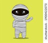 cartoon character for halloween ... | Shutterstock .eps vector #1900422073