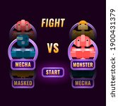 glossy purple game ui fighting...