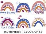 vector rainbow social media... | Shutterstock .eps vector #1900473463