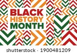 black history month. african... | Shutterstock .eps vector #1900481209