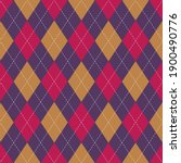 Argyle Pattern Bright In Purple ...