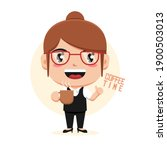 character of woman holding cup... | Shutterstock .eps vector #1900503013
