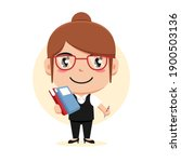 character of woman holding... | Shutterstock .eps vector #1900503136