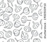 hand drawn garlic on white... | Shutterstock .eps vector #1900503910