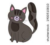 pet cat sitting animal feline... | Shutterstock .eps vector #1900510810