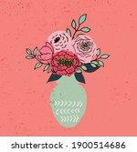 Hand Drawn Flower In Vase...