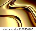 golden abstract wavy liquid... | Shutterstock . vector #1900530103