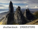 Old Man of Storr, Isle of Skye at sunrise early morning
