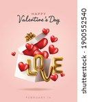 happy valentine's day text ...   Shutterstock .eps vector #1900552540