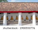 Row Of Native Thai Sitting...