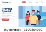 people wearing mask website... | Shutterstock .eps vector #1900564030
