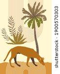 vector dog summer mid century... | Shutterstock .eps vector #1900570303