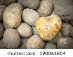 Heart Shaped Potato background - stock photo