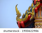 Thai Style Roof Temple In...