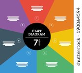 colorful seven sided full... | Shutterstock .eps vector #190064594
