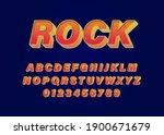 retro font alphabet for rock...   Shutterstock .eps vector #1900671679