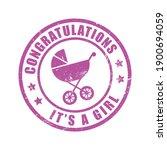 congratulations it a girl... | Shutterstock .eps vector #1900694059