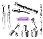 cosmetics  mascara  tools for... | Shutterstock .eps vector #190069460