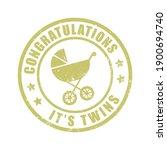 congratulations it's twins... | Shutterstock .eps vector #1900694740