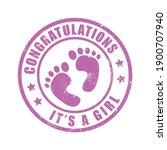 it a girl stamp vector | Shutterstock .eps vector #1900707940