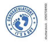 it a boy feet stamp vector | Shutterstock .eps vector #1900708900