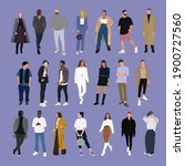 street fashion vector... | Shutterstock .eps vector #1900727560