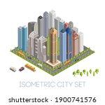 megapolis 3d isometric city.... | Shutterstock .eps vector #1900741576