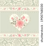 floral pattern with bouquet of... | Shutterstock .eps vector #1900768330