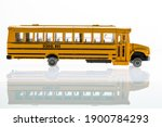 Broken School Bus Toy On A...