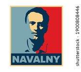alexei navalny vector hope... | Shutterstock .eps vector #1900808446