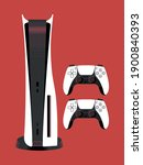 playstation 5 console game...   Shutterstock .eps vector #1900840393
