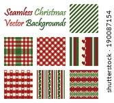 Seven Seamless Christmas Vecto...