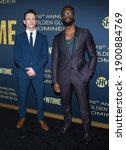 Small photo of LOS ANGELES - JAN 05: Actors Jonathan Tucker and Aldis Hodge arrives for Showtime Golden Globe Nominee Celebration Premiere on January 05, 2019 in West Hollywood, CA