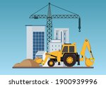 construction of building.crane... | Shutterstock .eps vector #1900939996