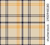 Orange Glen Plaid Textured...
