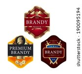 premium brandy labels with... | Shutterstock .eps vector #190095194