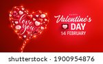 happy valentine's day poster or ... | Shutterstock .eps vector #1900954876