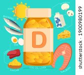 vitamin d sources and food... | Shutterstock .eps vector #1900980199