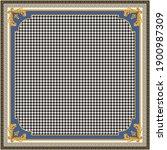 bandana print on a black and...   Shutterstock .eps vector #1900987309