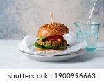 Vegan Lentil Burger With Baked...