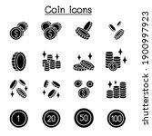 coin  money icon set vector... | Shutterstock .eps vector #1900997923