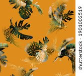 seamless floral pattern with... | Shutterstock . vector #1901002519