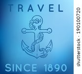 travel anchor logo | Shutterstock .eps vector #190100720