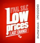 low prices  final sale... | Shutterstock .eps vector #190102040