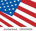 american flag background... | Shutterstock . vector #190103036