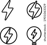 electric power icon in trendy...