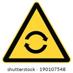 rounded triangle shape hazard... | Shutterstock .eps vector #190107548