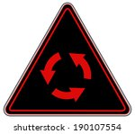 rounded triangle shape hazard... | Shutterstock .eps vector #190107554